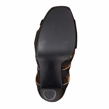 Fashion Thirsty Neu Womens Damen High Heels Plattform Gladiator Sandalen Schnür Stiefel Schuh Größe - Schwarz Kunstwildleder, 41 - 8
