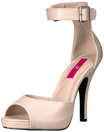 Pleaser Pink Label Eve-02, Damen Plateau, Beige (Cream Faux Leather), 46 EU (13 UK) - 1