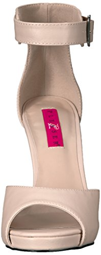 Pleaser Pink Label Eve-02, Damen Plateau, Beige (Cream Faux Leather), 46 EU (13 UK) - 2