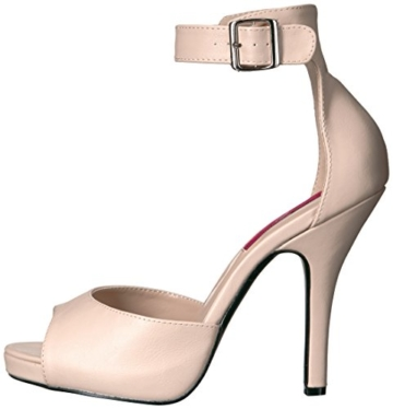 Pleaser Pink Label Eve-02, Damen Plateau, Beige (Cream Faux Leather), 46 EU (13 UK) - 3