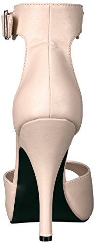 Pleaser Pink Label Eve-02, Damen Plateau, Beige (Cream Faux Leather), 46 EU (13 UK) - 4