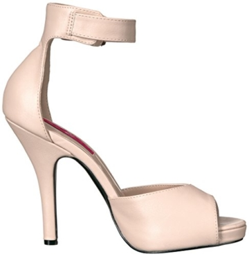 Pleaser Pink Label Eve-02, Damen Plateau, Beige (Cream Faux Leather), 46 EU (13 UK) - 8